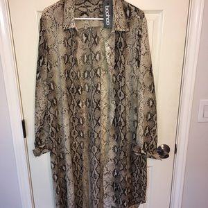 Snakeskin print dress/kimono